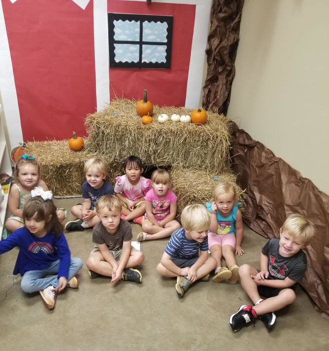 Pre-K 3 Sitting on their eggs
