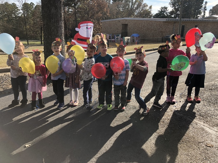 Kindergarten enjoyed making floats and participating in the IHM Thanksgiving parade.