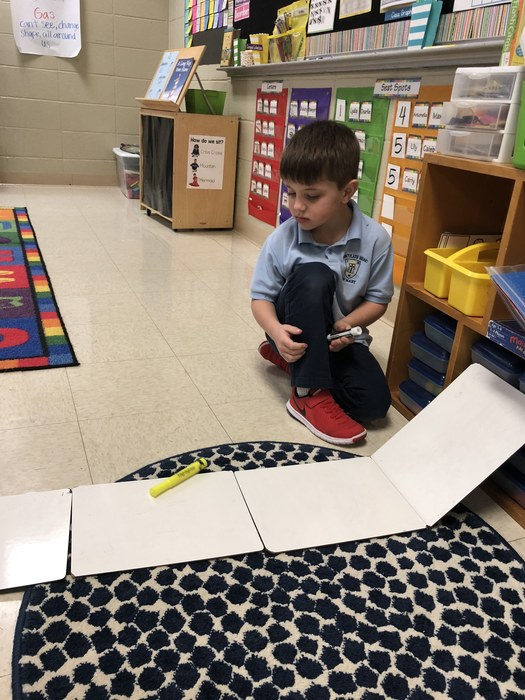 Kindergarten enjoyed learning about force and motion this week.