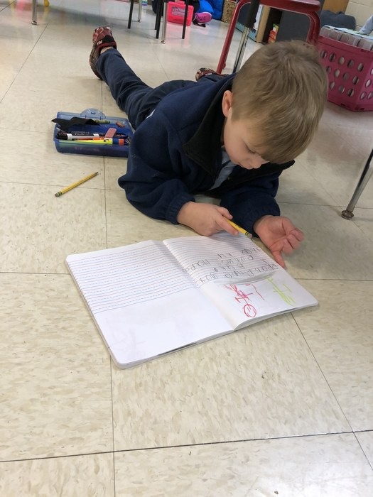 Kindergarten has been working hard learning new sight words and using them in writing and reading.