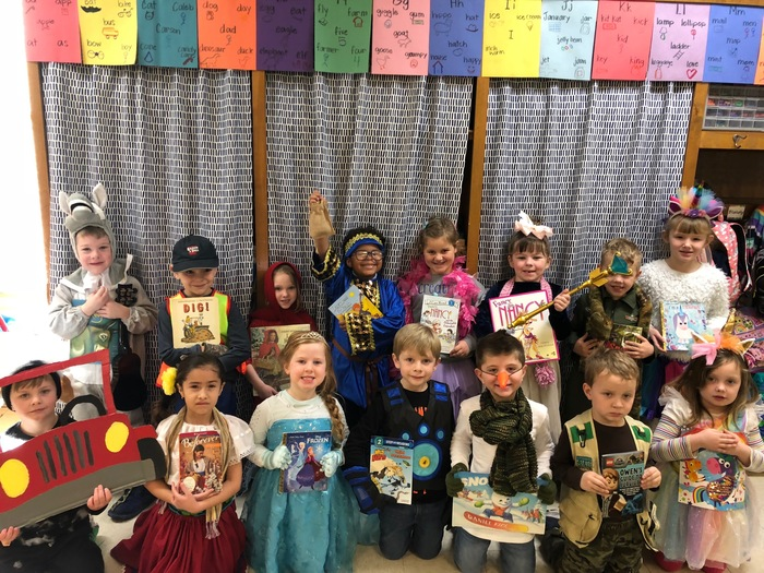 Kindergarten loved dressing up for book character day!