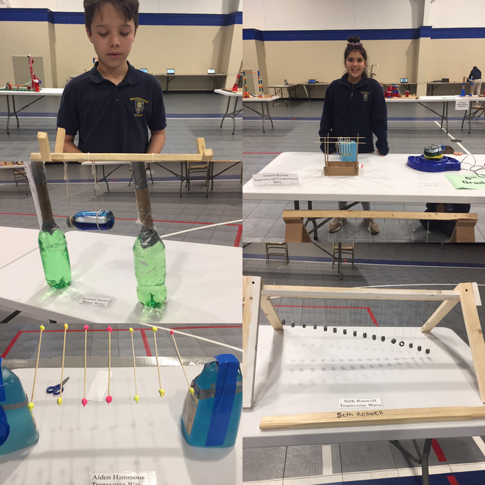 Each student made different types of wave machines.