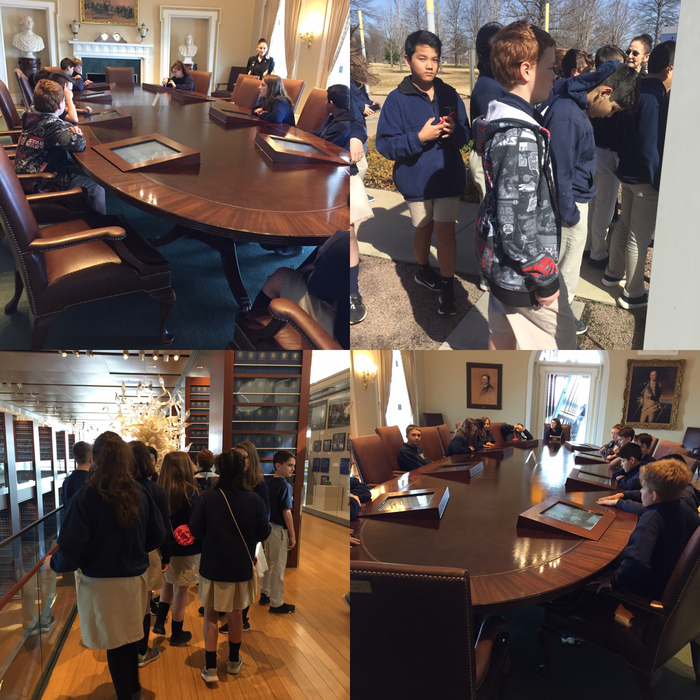 6th grade enjoyed their first stop of field trip day. We visited the Clinton Museum and saw the Anne Frank tree.