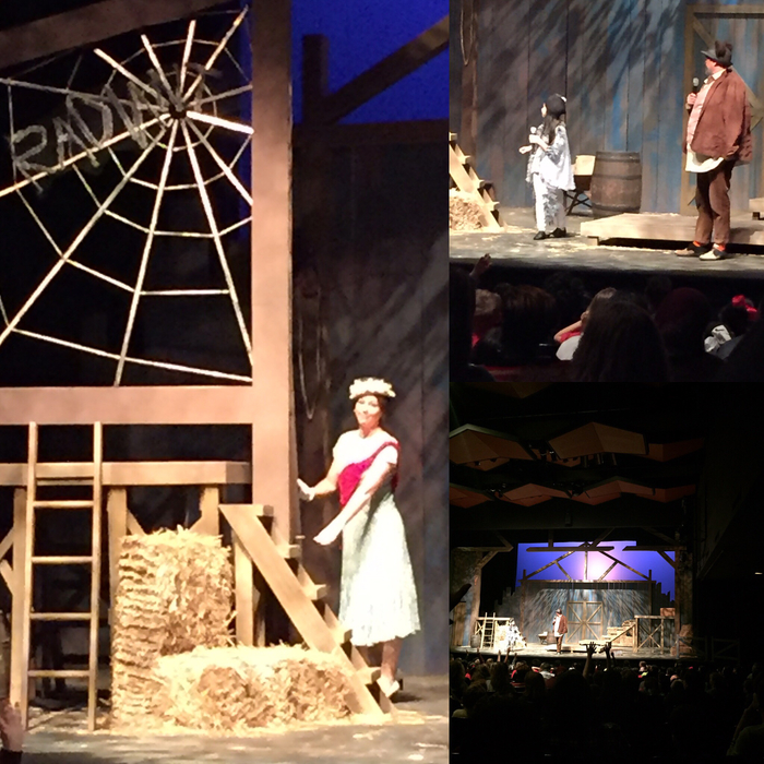 2nd stop was to the Arkansas Arts Center to see the production of Charlotte's Web.
