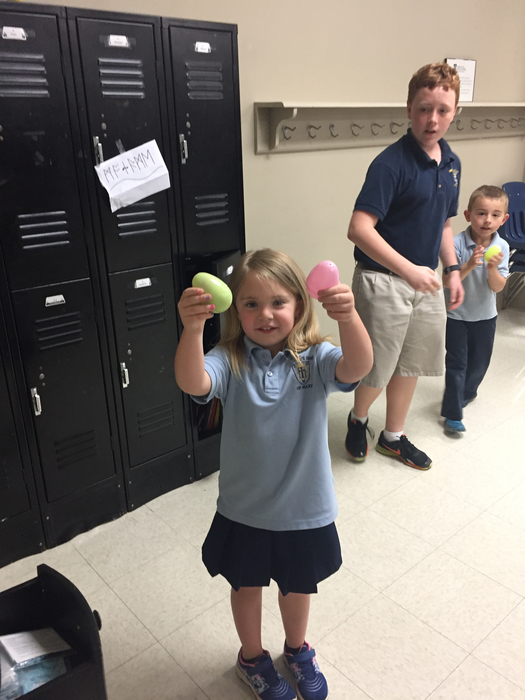 Julianna found her eggs!