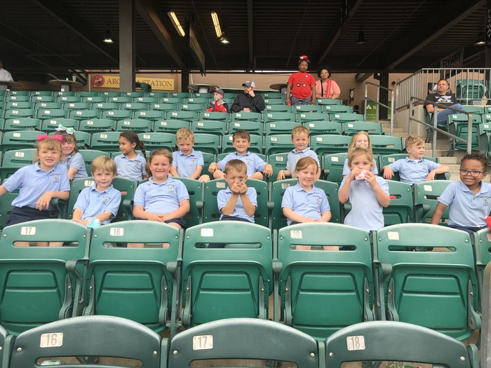 Kindergarten enjoyed a field trip to the Travelers game.