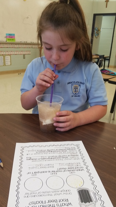 2nd Grade had a fun treat during science to find the States of Matter!