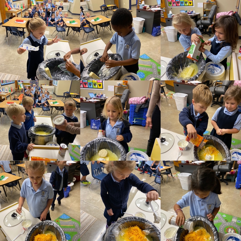Pk4 had a great time making Pumpkin Soup today!