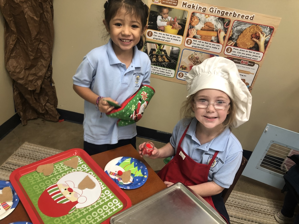 PK4 has been making Sugar Cookies in Dramatic Play!