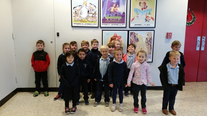 Kindergarten enjoyed a field trip to the Children's Theater to see Mother Goose Christmas.