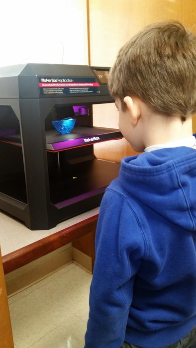 Kindergarten loved learning about the new 3D printer.