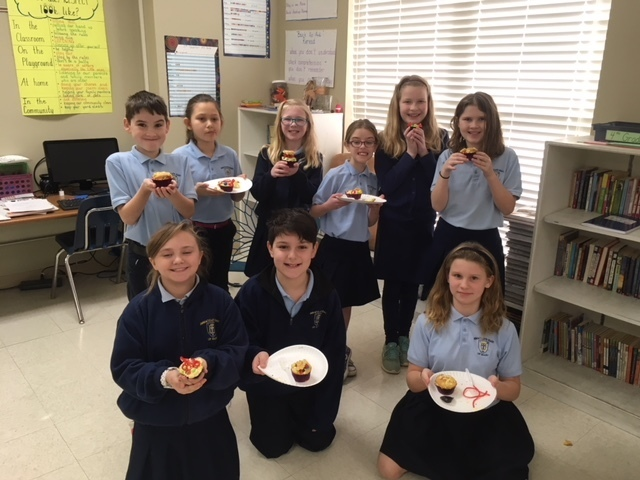 4th grade with edible cells